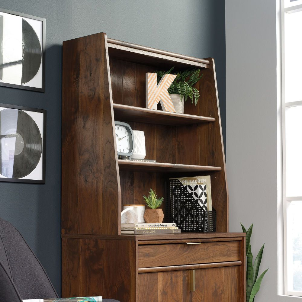 TEKNIK CLIFTON PLACE Sideboard Hutch With Grand Walnut Finish Effect